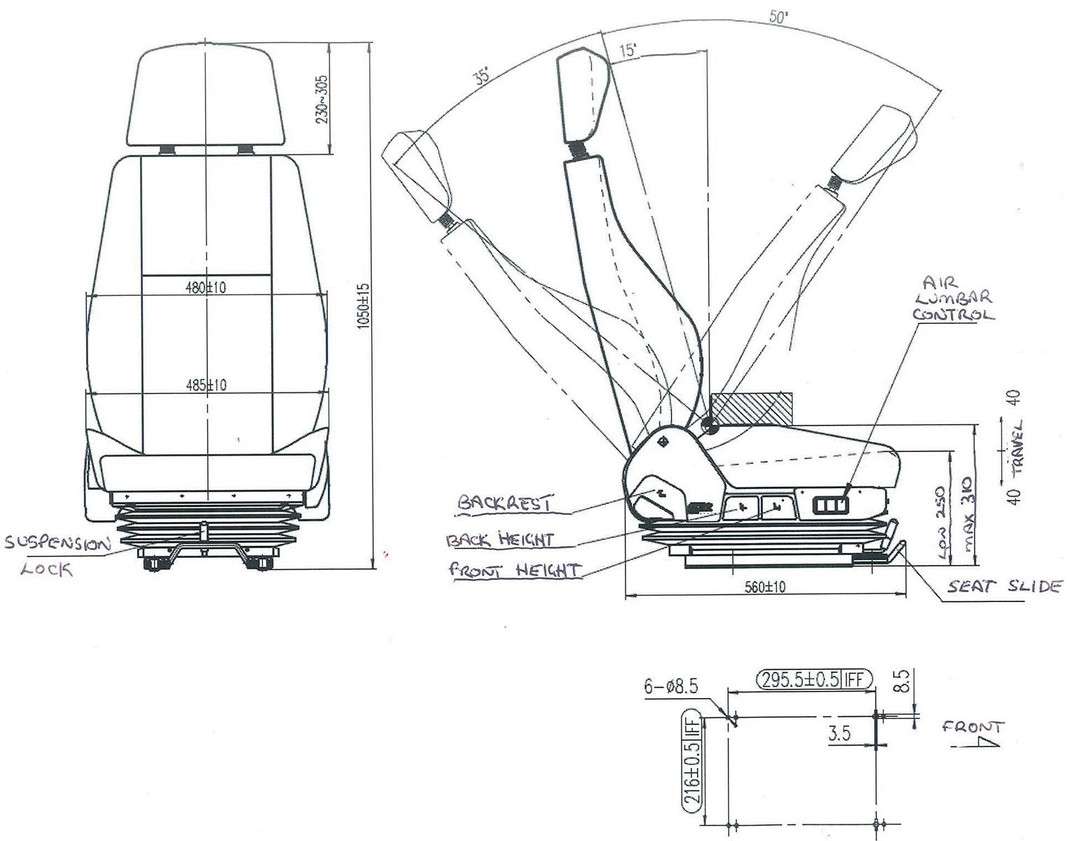 TSR1 Specifications drawing side